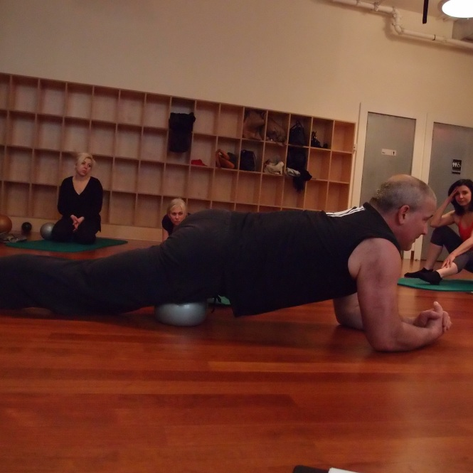 Yamuna Body Rolling instructor, Scott.